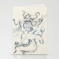 kraken Stationery Cards featuring Kraken by Kyle Naylor