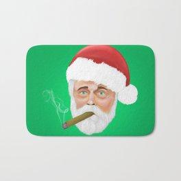 Santa smoking a cigar Bath Mat