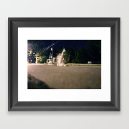 Ghost Kitty Framed Art Print