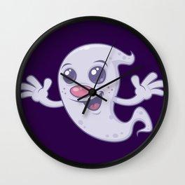 Cute Retro Ghost Wall Clock