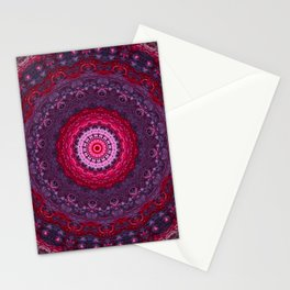 Vibrant Purple Red Mandala Stationery Cards