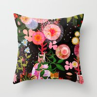 carousel Throw Pillows featuring carousel by Danse de Lune