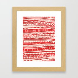 Sweater Weather in Red Framed Art Print