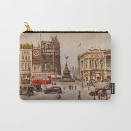 Vintage Piccadilly Circus London Carry-All Pouch