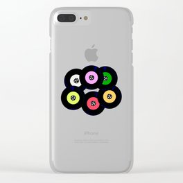 Singles Collection Clear iPhone Case