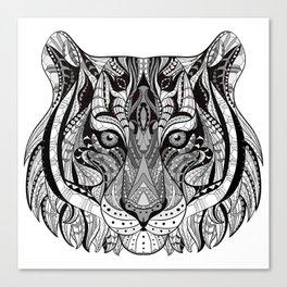 Ethnic Tiger Tribal Doodle 01 Canvas Print