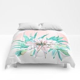 Desert Cactus Succulent Comforters