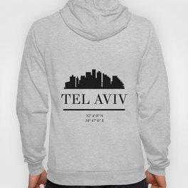 TEL AVIV ISRAEL BLACK SILHOUETTE SKYLINE ART Hoody