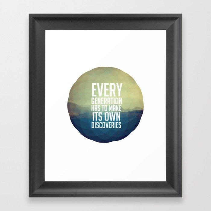 Discoveries Framed Art Print