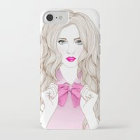 bow iPhone & iPod Cases featuring Bow by Crecre