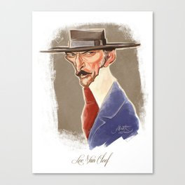 Lee Van Cleef caricature Canvas Print