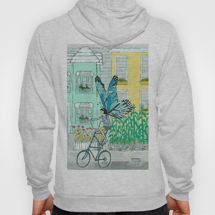 8c2cff1ef Butterfly on a Tallbike Hoody by amyriceart