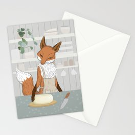 Cheese Time of Day in Fox's Kitchen Stationery Cards
