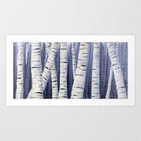 birch Art Prints featuring Birch by Sarah Yee