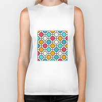 polka Biker Tanks featuring Polka Dots by Dizzy Moments