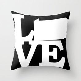 Pennsylvania Pride USA State Love Map Throw Pillow