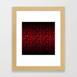 Red and Black Gradient Circles Framed Art Print