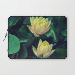 Yellow Lotus Flowers Laptop Sleeve