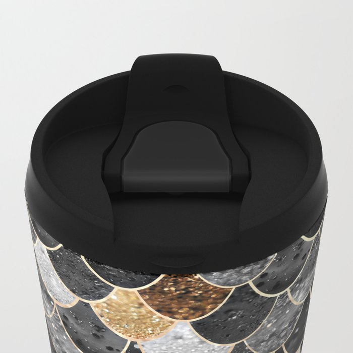 REALLY MERMAID BLACK GOLD Metal Travel Mug
