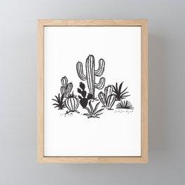 Cactus Sketch Framed Mini Art Print