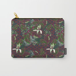 Bush Orchid Maroon Polka Pattern Carry-All Pouch