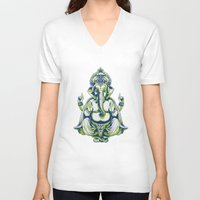 ganesh V-neck T-shirts featuring Ganesh by Scalifornian