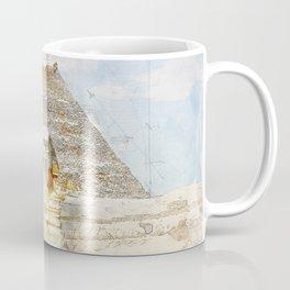 Cheops Pyramid and  Sphinx, Cairo Egypt Coffee Mug