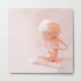 Pink mending heart Metal Print