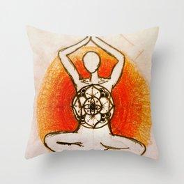 Yogi without words Throw Pillow