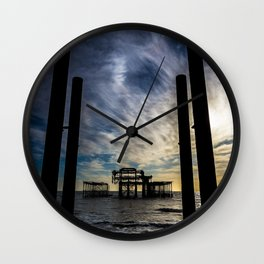 Brighton Seascape II Wall Clock