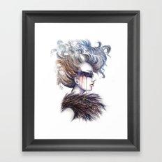 Blind // Fashion Illustration Framed Art Print