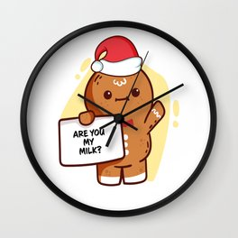 Gingerbread Matching Group Are You My Milk Wall Clock