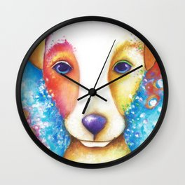 Dog Painting Jack Russell Terrier Vincent Abstract jrt Original Wall Clock