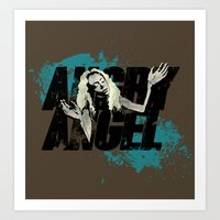 orphan black Art Prints featuring Orphan Black - Angry Angel by Child of the Tardis