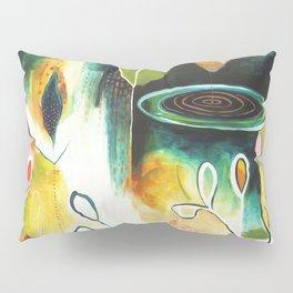 """Deep Growth"" Original Painting by Flora Bowley Pillow Sham"