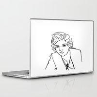 harry styles Laptop & iPad Skins featuring Harry Styles by Rosalia Mendoza