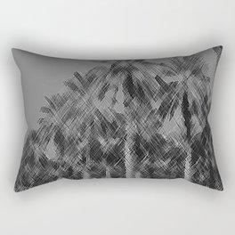Date Palms in Arizona - Black & White Pencil Drawing Rectangular Pillow