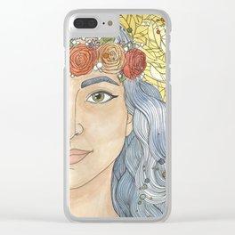 Lady Wisdom (Sophia) Clear iPhone Case