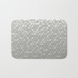 White hexagons Bath Mat