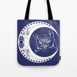 Owl and Moon Tote Bag