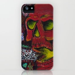 THE SKULL, Halloween Art iPhone Case