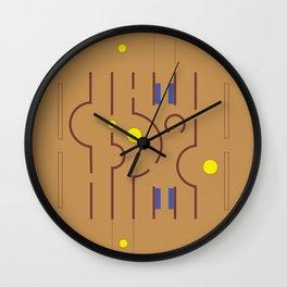 Aldo Van Eyck Meets Jamini Roy Wall Clock