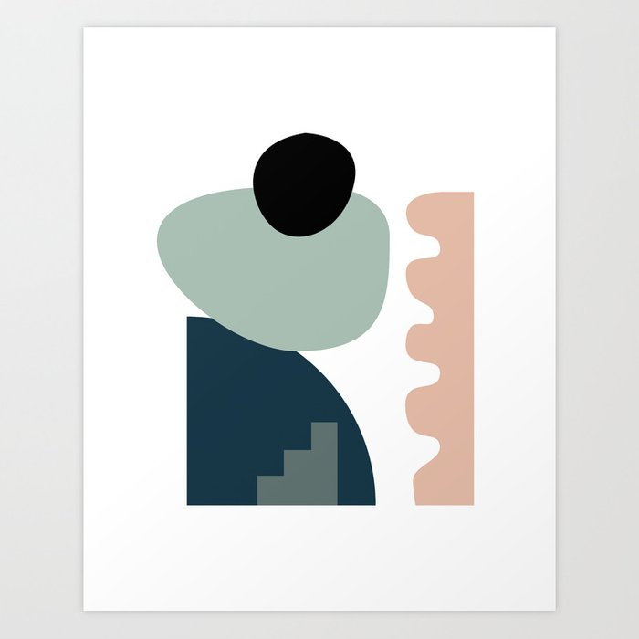 Shape study #18 - Stackable Collection Kunstdrucke