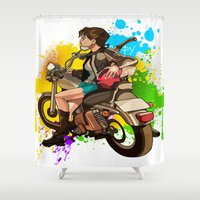 silent Shower Curtains featuring Silent by Don Kuing