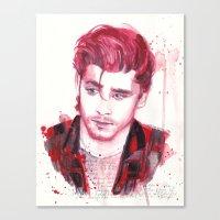 zayn malik Canvas Prints featuring Zayn Malik by WaterLyrics