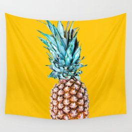 Pineapple Ananas On A Yellow Mellow Background #decor #society6 #buyart Wall Tapestry