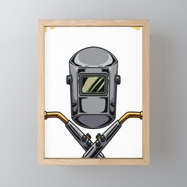 Fabricator Funny Definition Builds Stuff Can't Gift Framed Mini Art Print