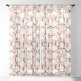 Summer Lemons on Pink Sheer Curtain