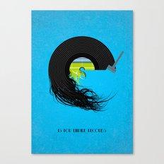 E is for Empire Records Canvas Print