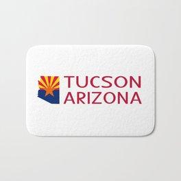 Arizona: Tucson (State Shape & Flag) Bath Mat